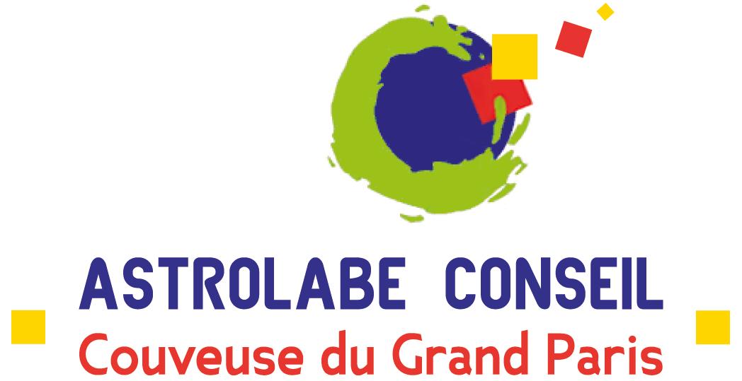 Le logo de la couveuse d'entreprises Astrolabe à Paris 11
