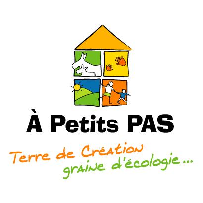 Le logo de la couveuse d'entreprises A Petits Pas à Ruisseuville qui accompagne des entrepreneurs sur le test agricole