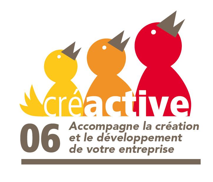 Le logo de la couveuse d'entreprises à Le Cannet Créactive 06