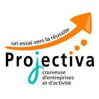 Le logo de la couveuse d'entreprises en Guadeloupe Projectiva