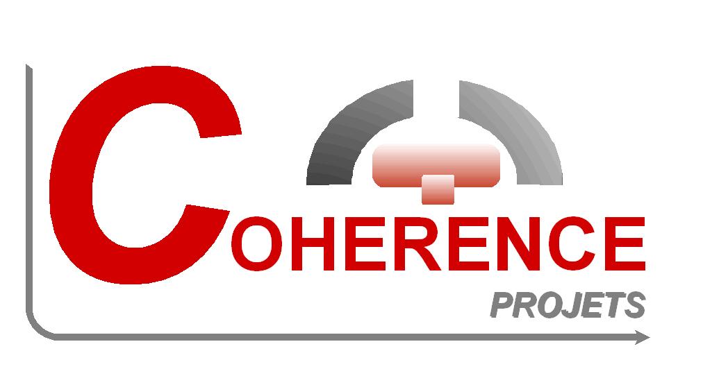 Le logo de la couveuse d'entreprises Cohérence Projets à Breiy