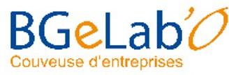 Le logo de la couveuse d'entreprises BGeLa'O à la Rôche sur Yon