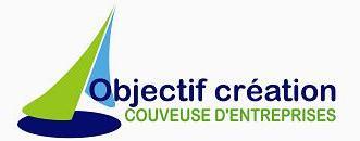 Le logo de la couveuse d'entreprises Objectif Création dans le Jura